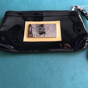 Macy's Women's Patent Leather Black Clutch